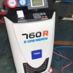 ダイハツ タントカスタム(L375S)にエアコンガスクリーニング施工しました。TEXA760R