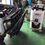 スズキ ジムニー JB23WにエアコンガスクリーニングとワコーズのRECS施工しました。 TEXA760R