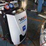 ベンツ(W211)にエアコンガスクリーニング施工しました。TEXA760R 加西市