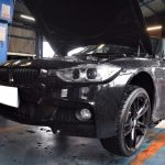 BMW(F30)320iMスポーツのブレーキパッドを交換しました。ブレーキ警告灯点灯 センサー交換 低ダスト
